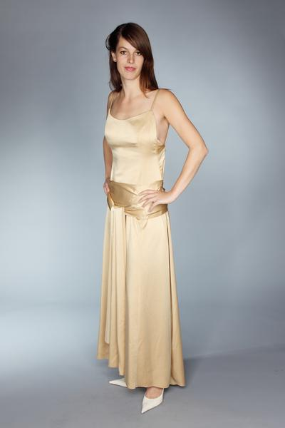 Abendkleid in gold
